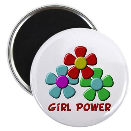 "Girl Power 2.25"" Magnet (100 pack)"