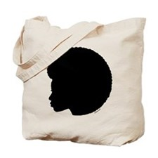 Black Afro Tote Bag