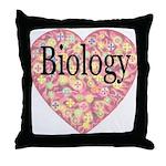 Love Biology Throw Pillow
