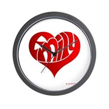 Emily (Red Heart) Wall Clock