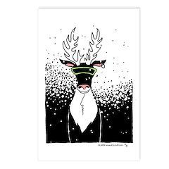 Snow Storm Reindeer Postcards (Package of 8)