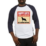 German Shepherd Dog Baseball Jersey