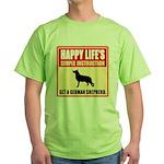 German Shepherd Dog Green T-Shirt