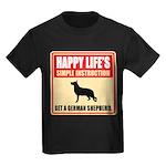 German Shepherd Dog Kids Dark T-Shirt