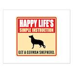 German Shepherd Dog Small Poster