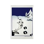 Tracks in the Snow Rectangle Magnet (10 pack)
