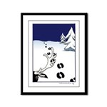 Tracks in the Snow Framed Panel Print
