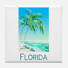 Florida Palms Tile Coaster