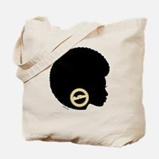 Black Afro Bling Tote Bag