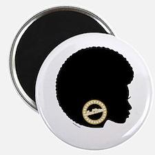 Black Afro Bling Magnet