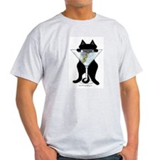 Marini Black Cat Ash Grey T-Shirt