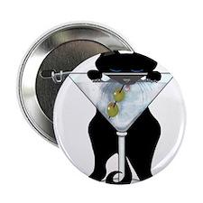 Marini Black Cat Button