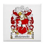 Majewski Family Crest Tile Coaster