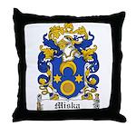 Miska Family Crest Throw Pillow