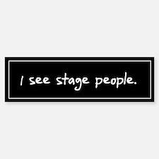 Stage People Black Bumper Bumper Bumper Sticker