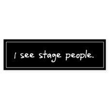 Stage People Black Bumper Car Sticker