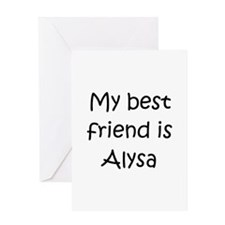 Alysa Greeting Card