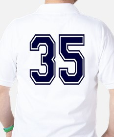 NUMBER 35 BACK Golf Shirt