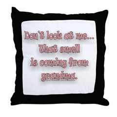 DONT LOOK AT ME... Throw Pillow