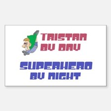 Tristan - Super Hero by Night Rectangle Decal