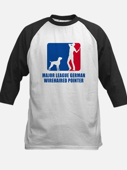 German Wirehaired Pointer Kids Baseball Jersey