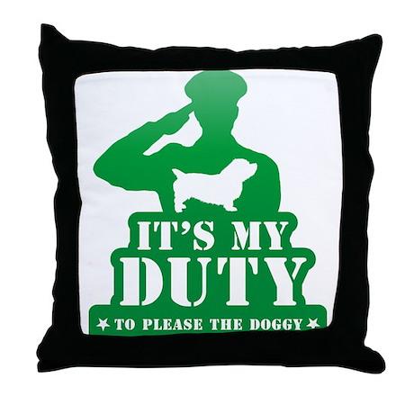 Glen of Imaal Terrier Throw Pillow