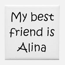 Cute Alina Tile Coaster