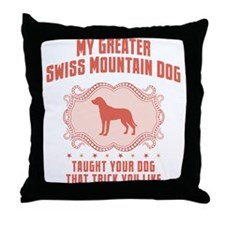 Greater Swiss Mountain Dog Throw Pillow