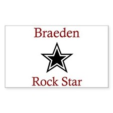 Braeden - Rock Star Rectangle Decal