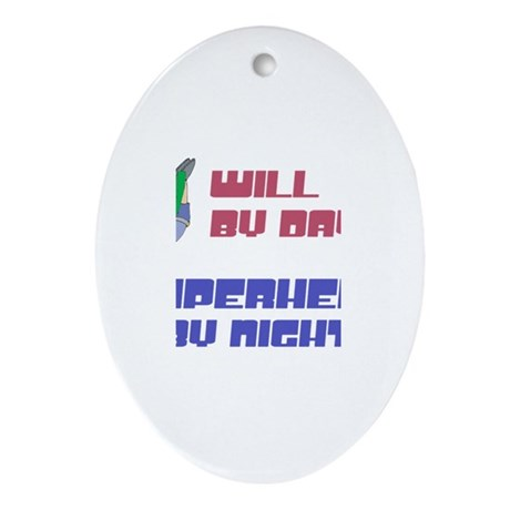 Will - Super Hero by Night Oval Ornament
