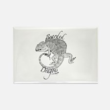 Cute Bearded dragons Rectangle Magnet