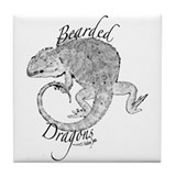 Bearded dragon Drink Coasters