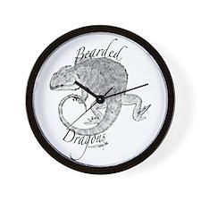Cute Bearded dragon Wall Clock