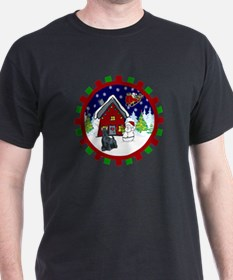 Cute Scottie Christmas T-Shirt