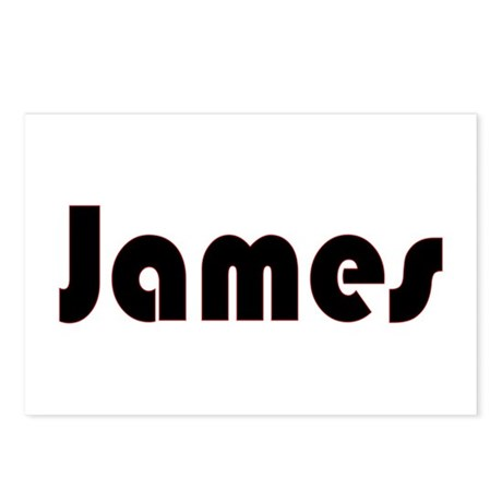 James Postcards (Package of 8)