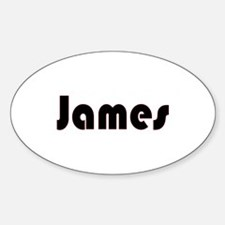 James Oval Decal