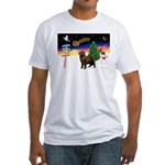 XmasSigns/Newfie Fitted T-Shirt