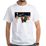 XmasSigns/Newfie White T-Shirt