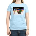 XmasSigns/Newfie Women's Light T-Shirt