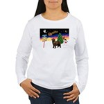 XmasSigns/Newfie Women's Long Sleeve T-Shirt