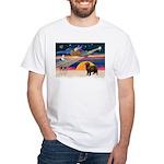 XmasStar/ Newfie White T-Shirt