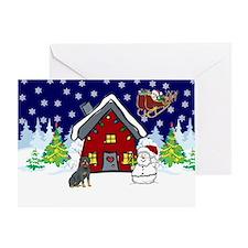 Cute Rottweiler Christmas Greeting Card
