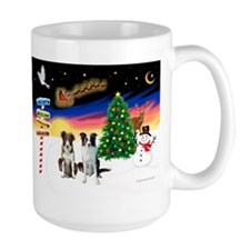 XmasSigns/2 Border Collies Mug
