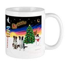 XmasSigns/2 Border Collies Mug
