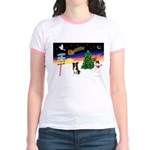 XmasSigns/BorderCollie 4 Jr. Ringer T-Shirt