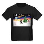 XmasSigns/BorderCollie 4 Kids Dark T-Shirt