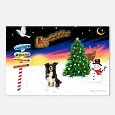 XmasSigns/BorderCollie 4 Postcards (Package of 8)