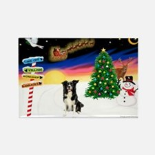 XmasSigns/BorderCollie 4 Rectangle Magnet
