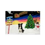 XmasSigns/BorderCollie 4 Rectangle Magnet (10 pack