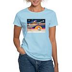 XmasStar/Border Collie Women's Light T-Shirt
